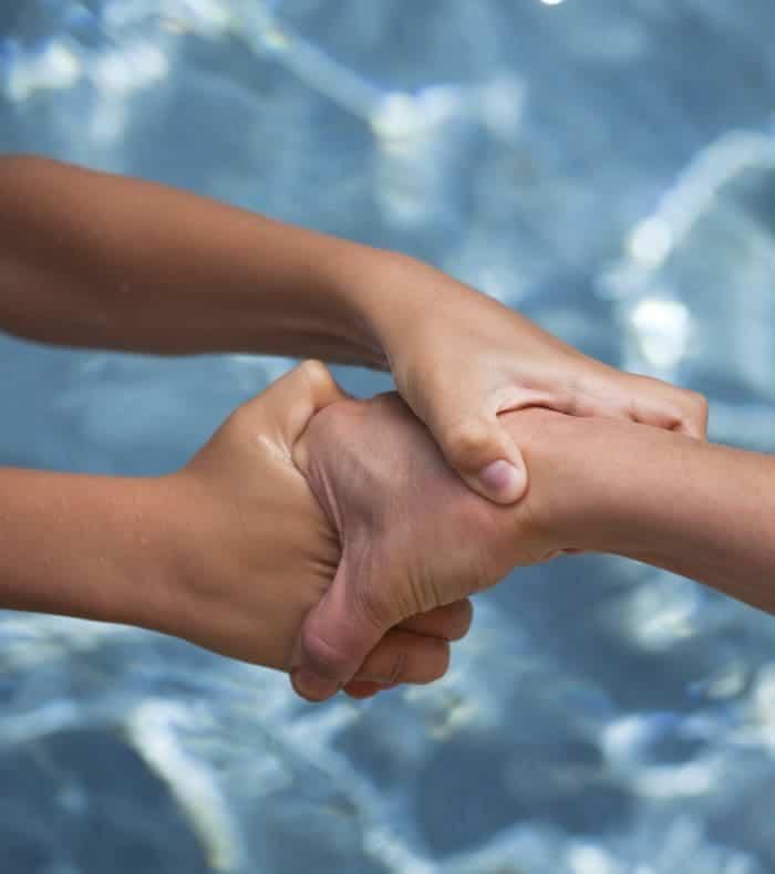 La peur de l'eau : aquaphobie.