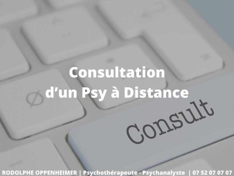 Consultation d'un Psy à Distance
