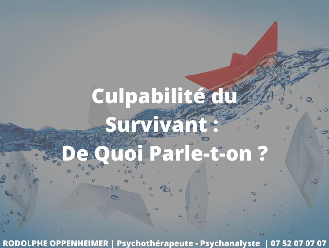 You are currently viewing Culpabilité du survivant: de quoi parle-t-on?