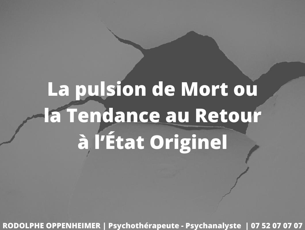 Read more about the article La pulsion de mort ou la tendance au retour à l'état originel